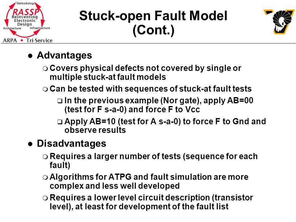 Stuck-open Fault Model (Cont.)