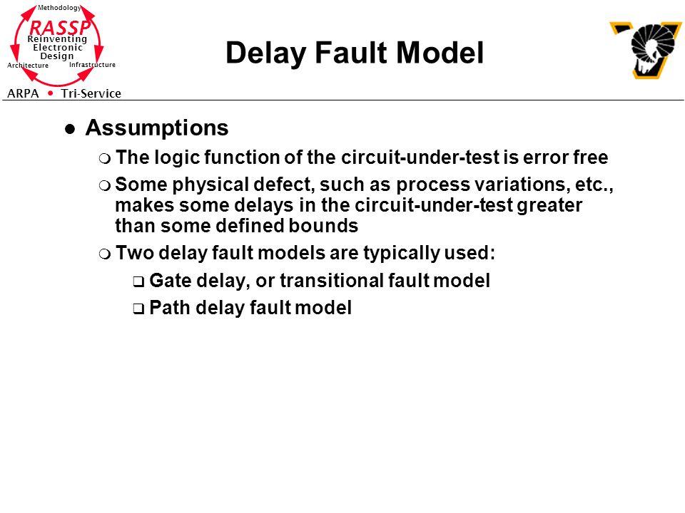 Delay Fault Model Assumptions