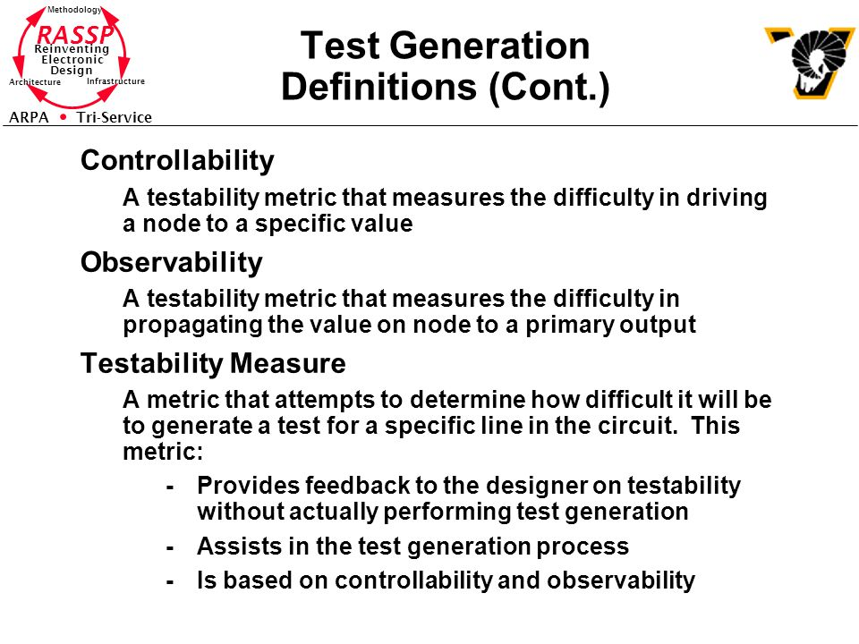 Test Generation Definitions (Cont.)
