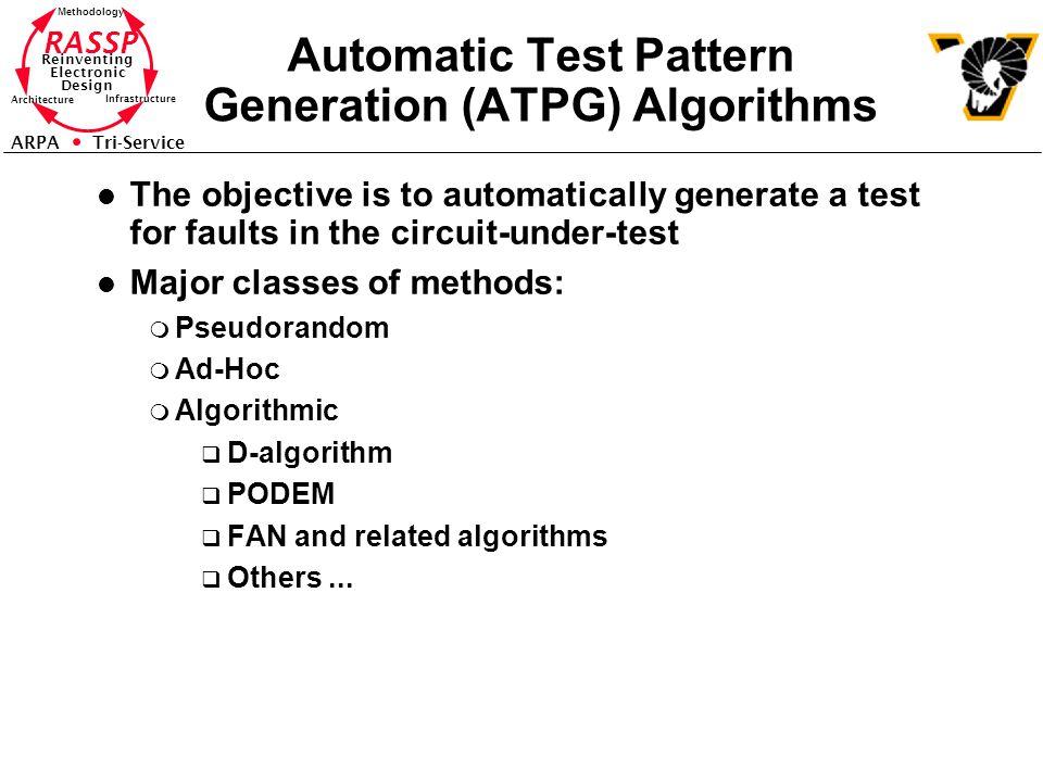 Automatic Test Pattern Generation (ATPG) Algorithms
