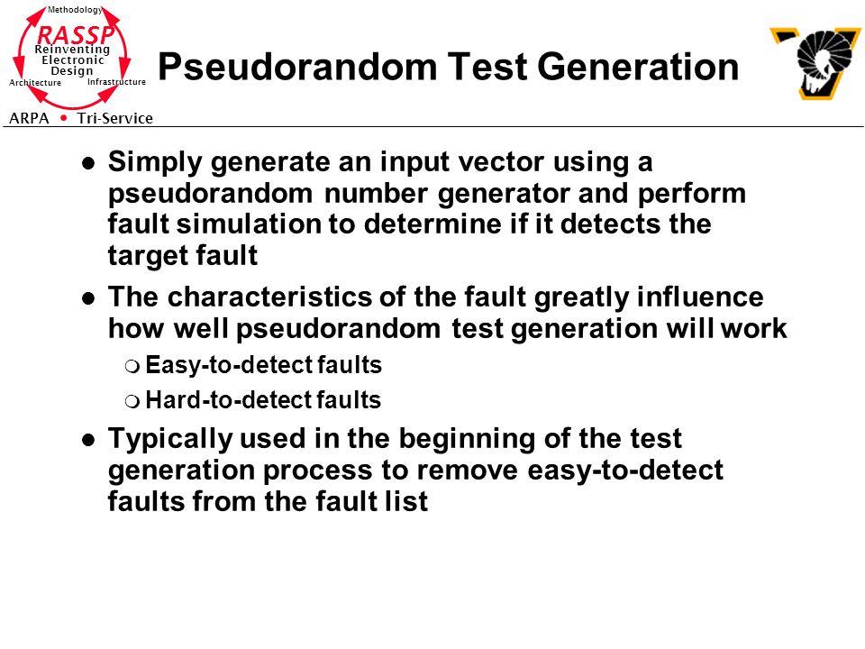 Pseudorandom Test Generation