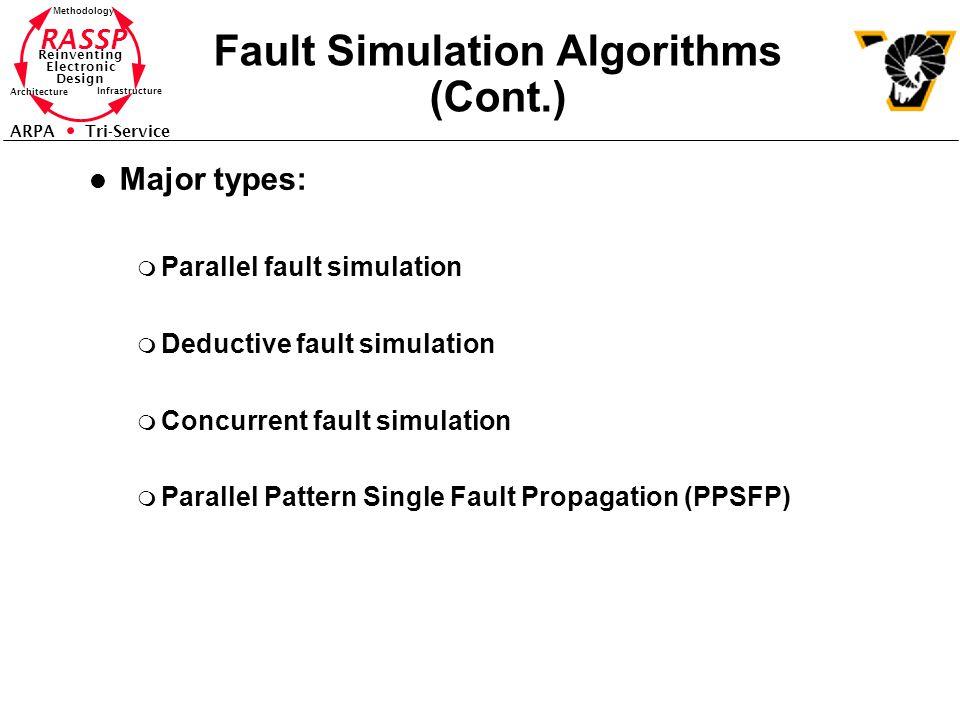 Fault Simulation Algorithms (Cont.)
