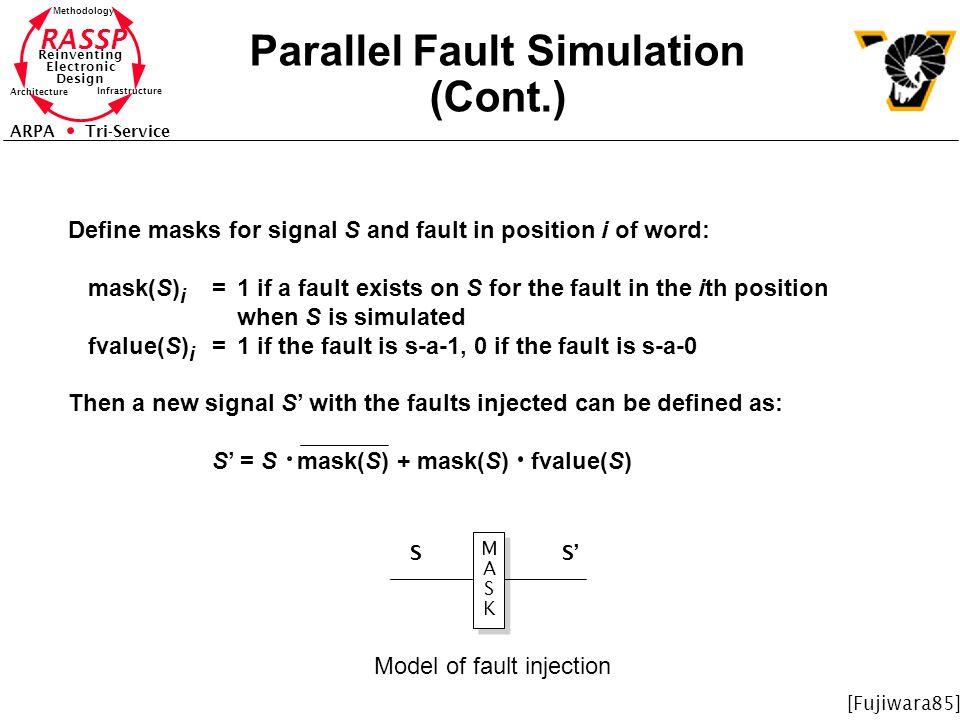 Parallel Fault Simulation (Cont.)