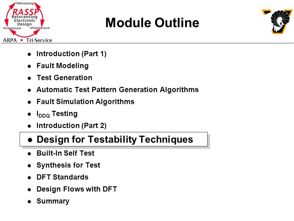Module Outline Design for Testability Techniques Introduction (Part 1)