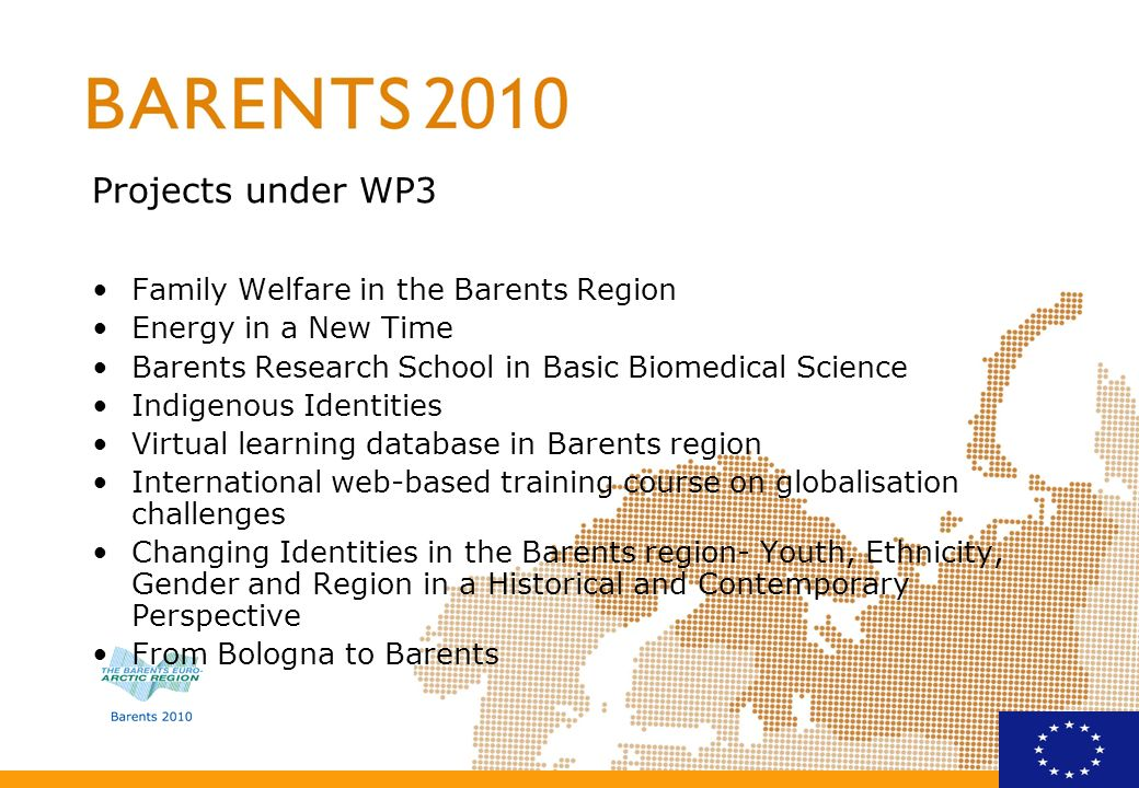 Projects under WP3 Family Welfare in the Barents Region