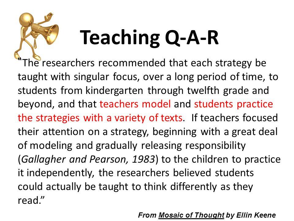 Teaching Q-A-R