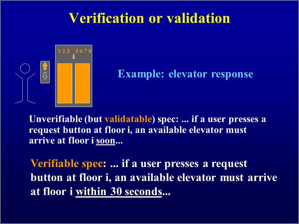 Verification or validation