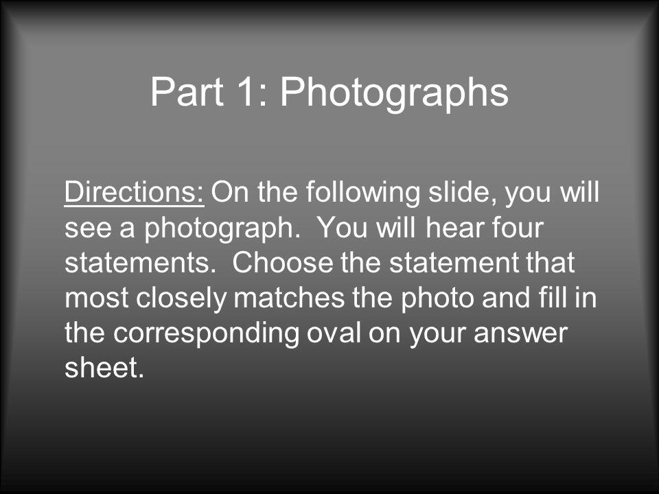 Part 1: Photographs