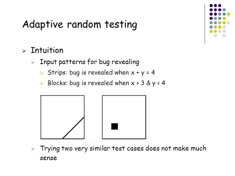 Adaptive random testing