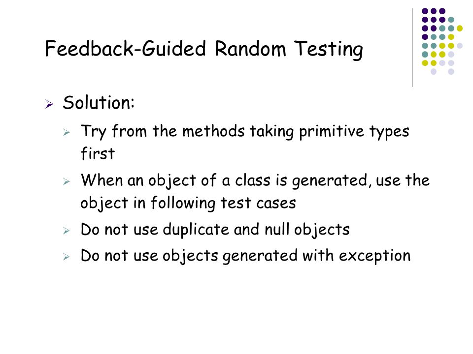 Feedback-Guided Random Testing
