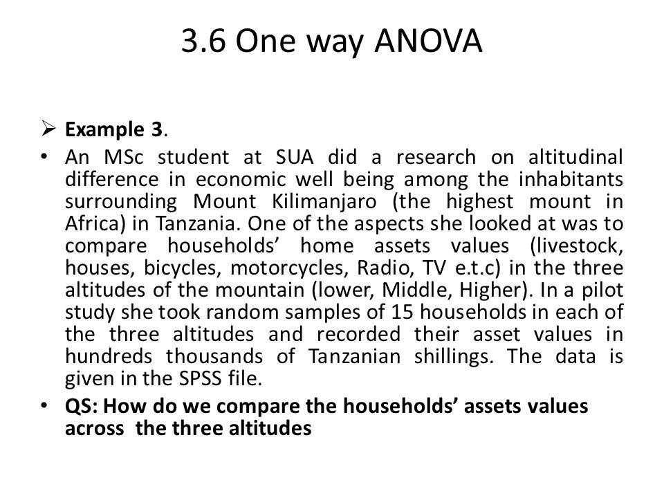 3.6 One way ANOVA Example 3.