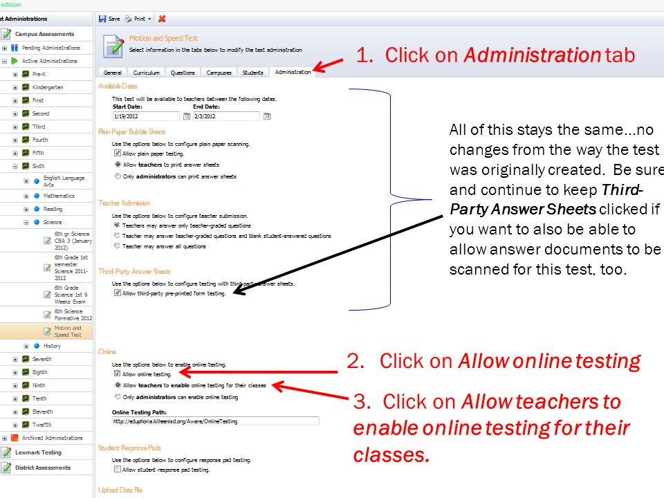 1. Click on Administration tab