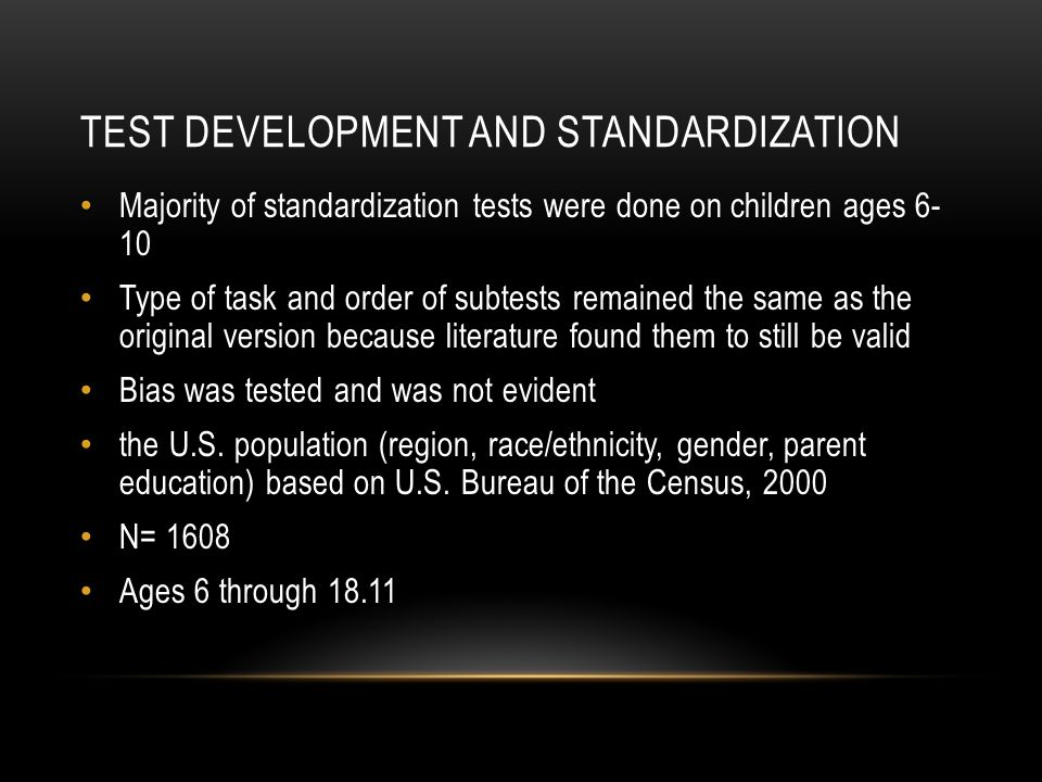 Test development and standardization