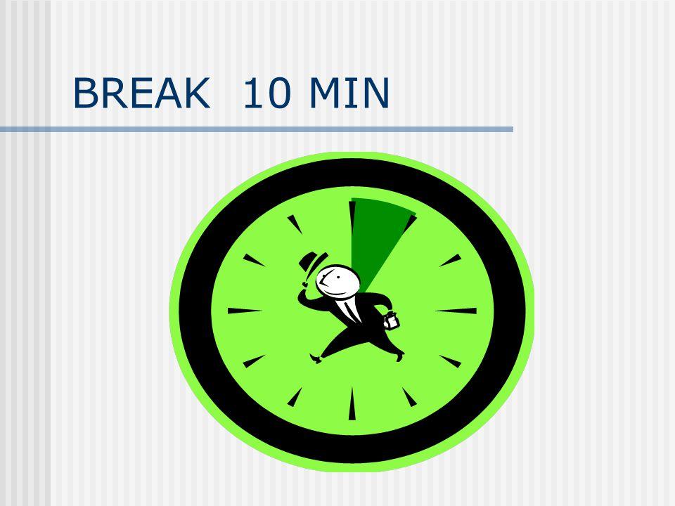 BREAK 10 MIN