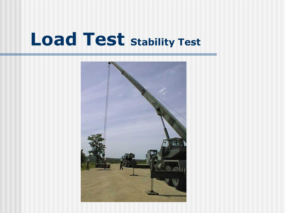 Load Test Stability Test