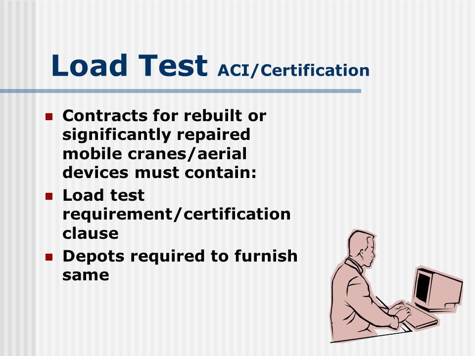 Load Test ACI/Certification