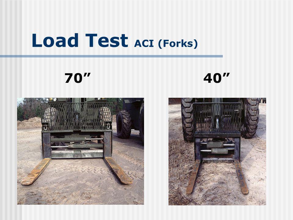 Load Test ACI (Forks) 70 40