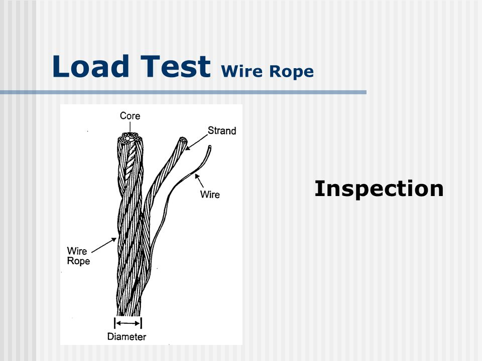 Load Test Wire Rope Inspection