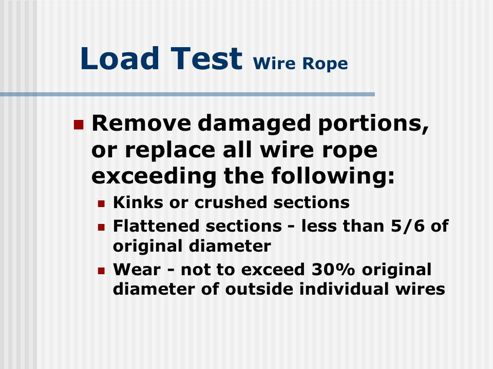 Dorable Wire Rope Inspection Form Component - Everything You Need to ...