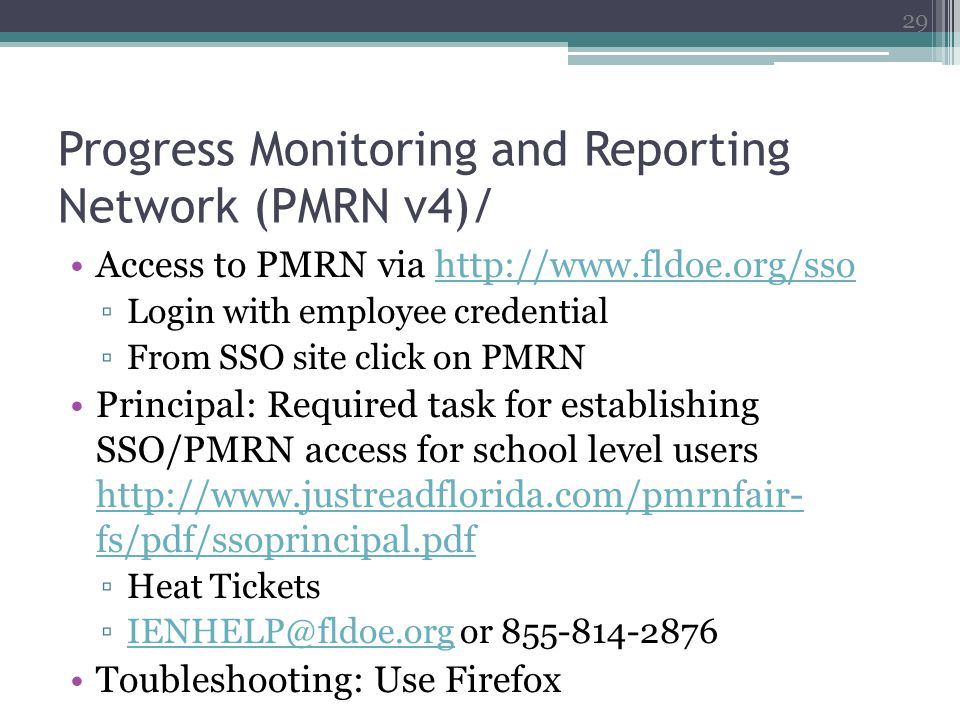 Progress Monitoring and Reporting Network (PMRN v4)/