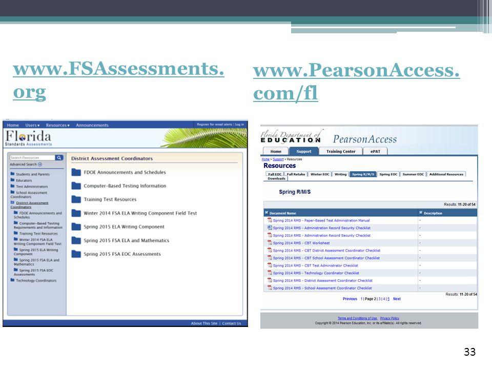 www.PearsonAccess. com/fl