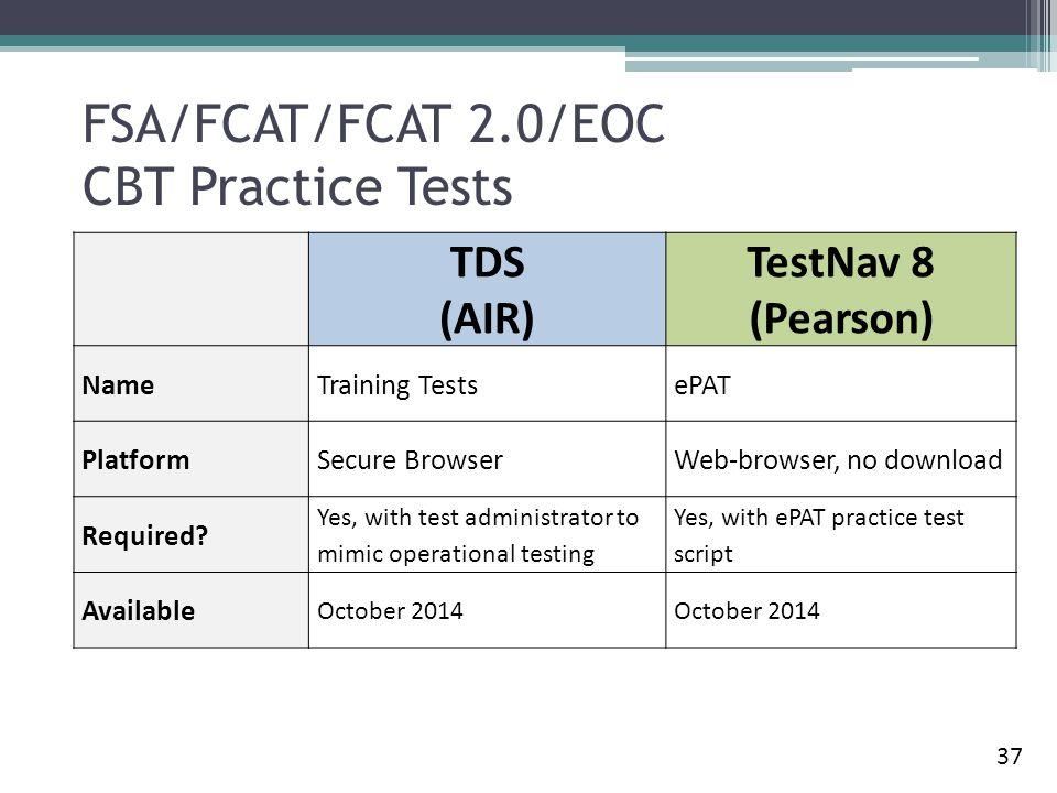 FSA/FCAT/FCAT 2.0/EOC CBT Practice Tests