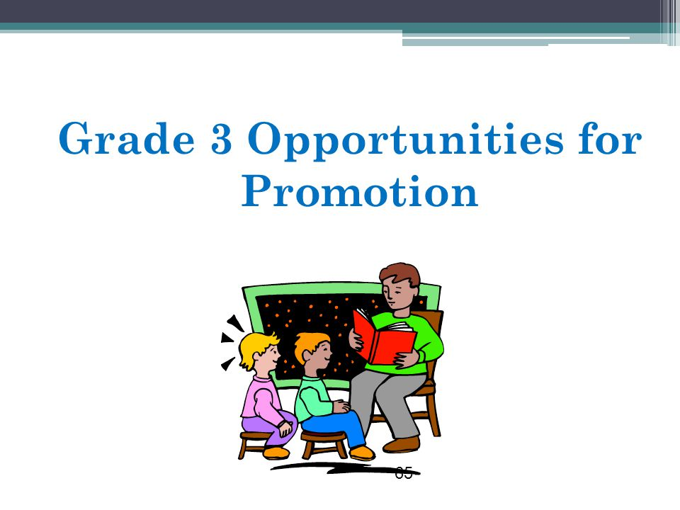 Grade 3 Opportunities for Promotion