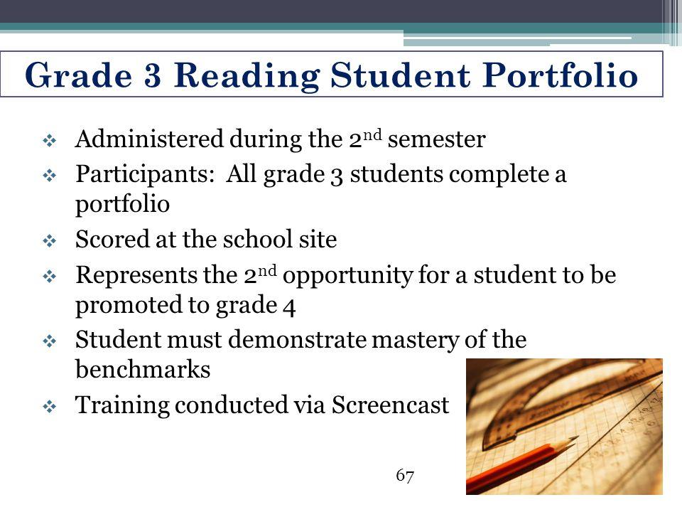 Grade 3 Reading Student Portfolio