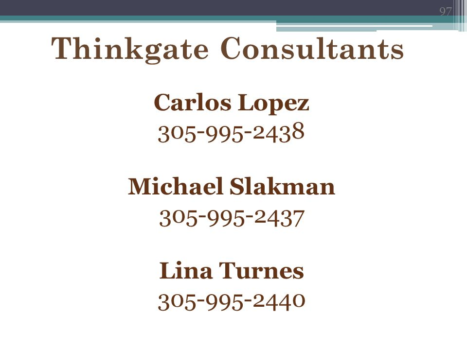 Thinkgate Consultants