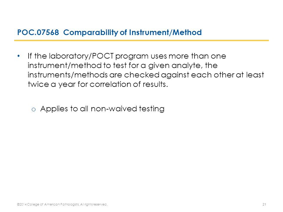 POC.07568 Comparability of Instrument/Method