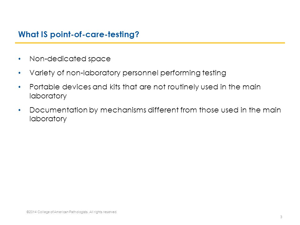What IS point-of-care-testing