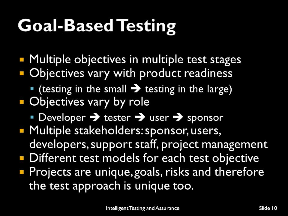 Intelligent Testing and Assurance