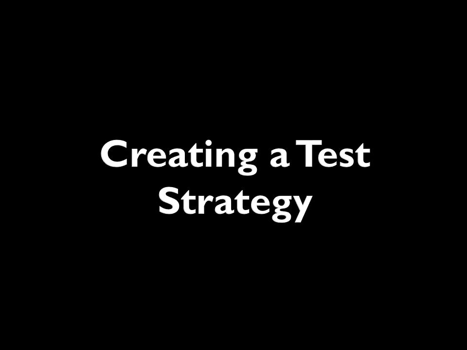 Creating a Test Strategy