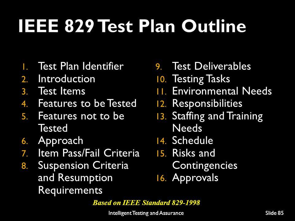 Based on IEEE Standard 829-1998