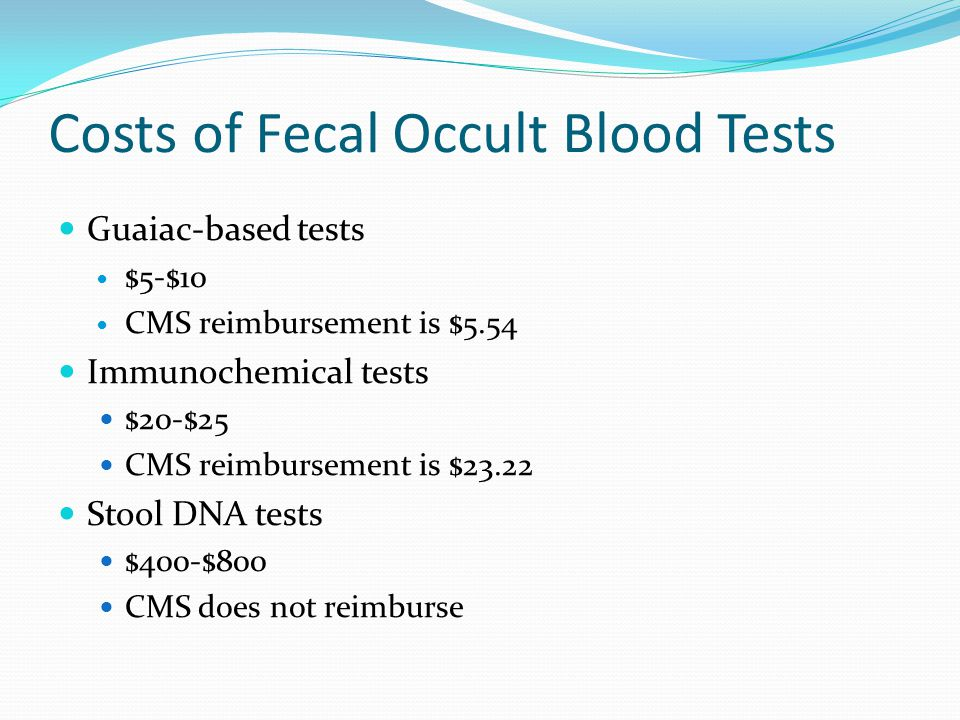 Use Of Fecal Immunochemical Tests Ppt Video Online Download