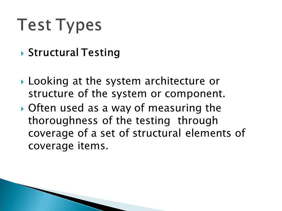 Test Types Structural Testing