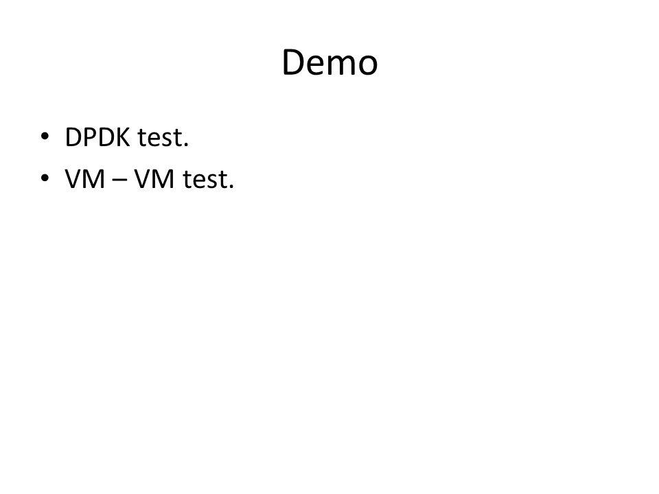 Demo DPDK test. VM – VM test.