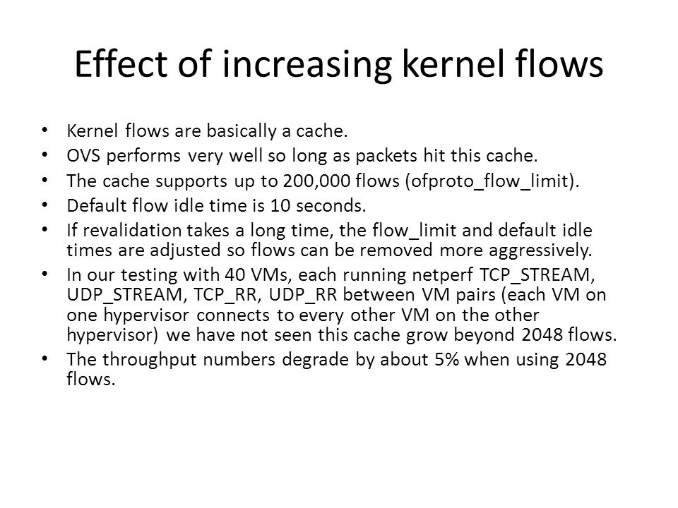 Effect of increasing kernel flows