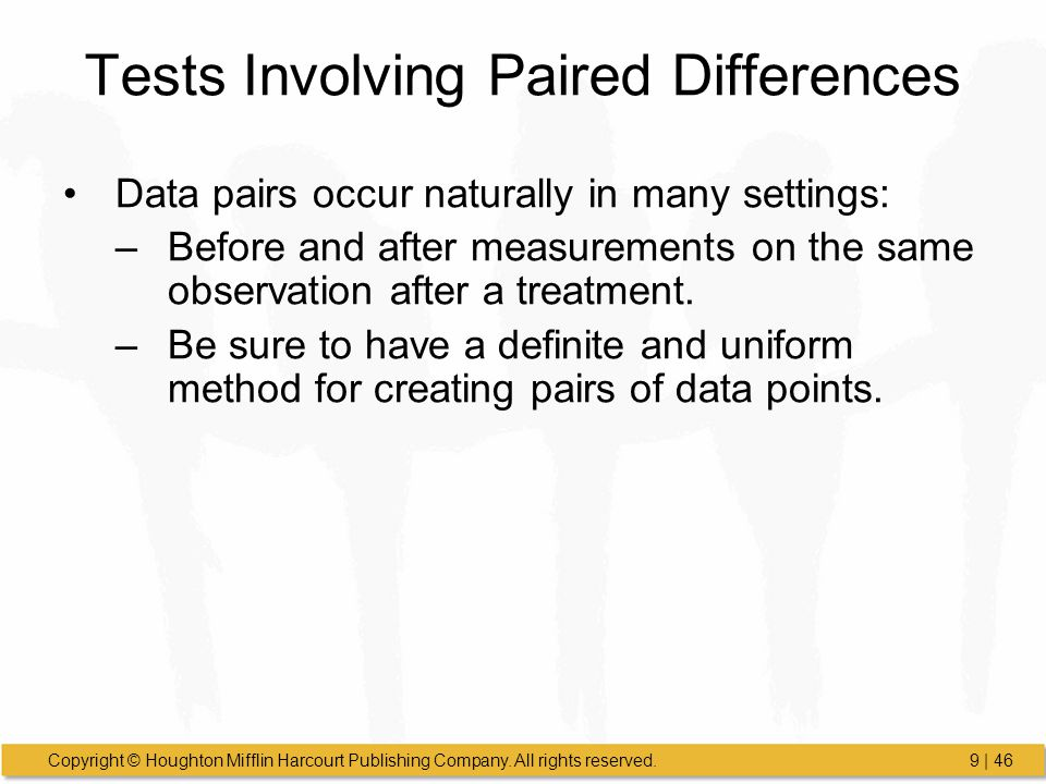 Tests Involving Paired Differences