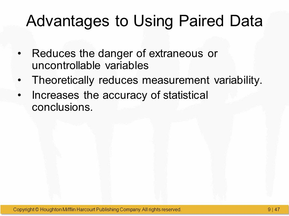 Advantages to Using Paired Data