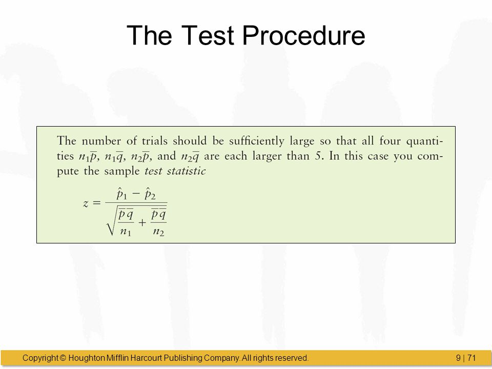 The Test Procedure