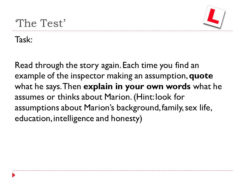'The Test'