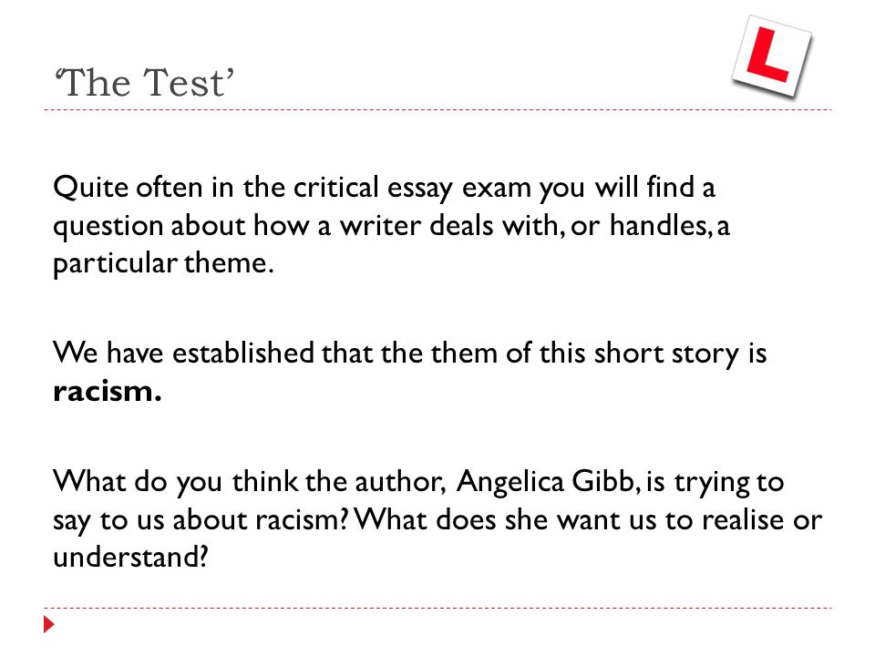 An analysis of the test a short story by angelica gibbs