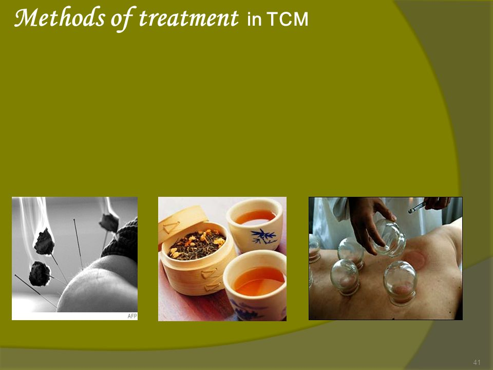 Methods of treatment in TCM