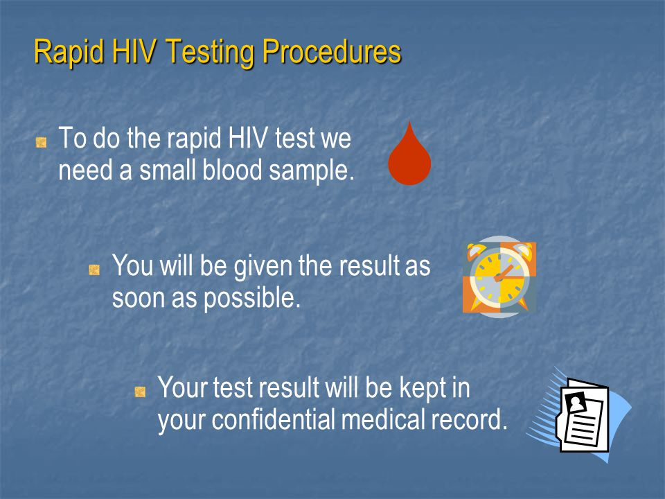 Rapid HIV Testing Procedures