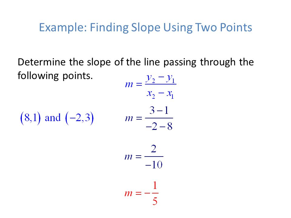 Example: Finding Slope Using Two Points