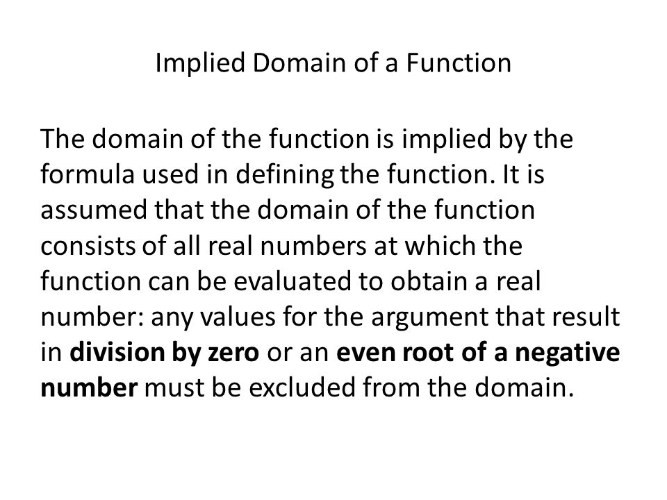 Implied Domain of a Function