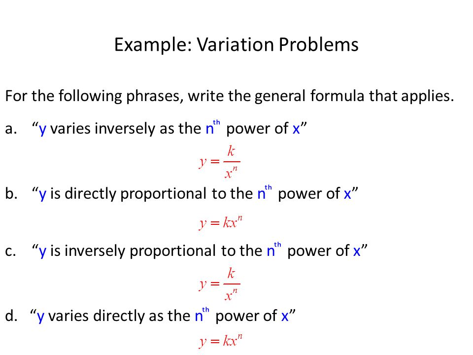 Example: Variation Problems