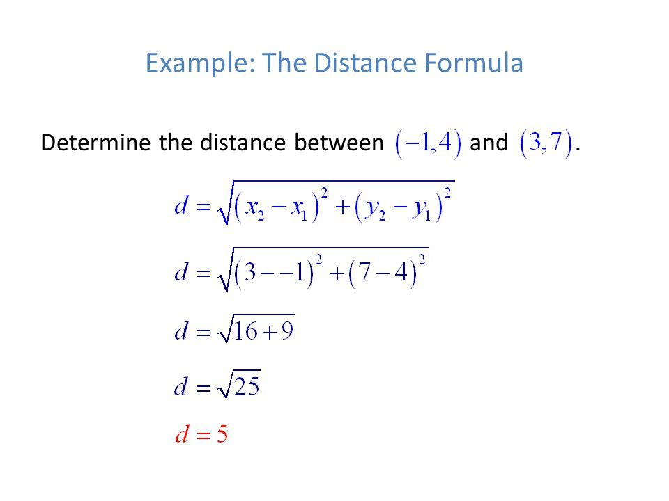 Example: The Distance Formula