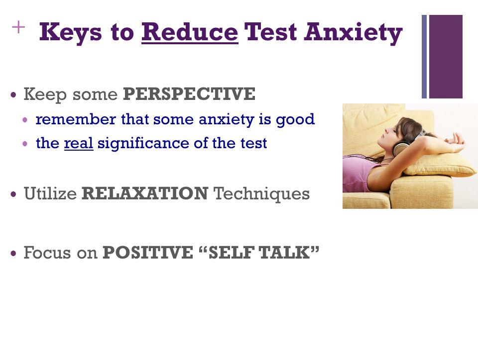 Keys to Reduce Test Anxiety